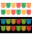 mexican bunting banners vector image vector image