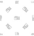 modern kitchen table pattern seamless vector image vector image