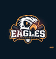 modern professional emblem eagles for baseball vector image vector image