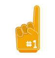 number one finger foam vector image vector image