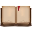 Old open book for Halloween vector image