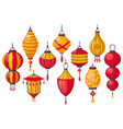 oriental traditional lantern chinese paper vector image vector image