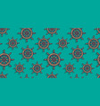 pattern wallpaper with old ocean nautical helm vector image vector image