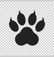 paw print icon isolated on isolated background vector image vector image