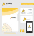 pizza business logo file cover visiting card and vector image