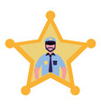 police star justice vector image