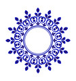 porcelain decorative frame vector image vector image