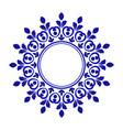 porcelain decorative frame vector image vector image