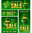 saint patricks day sale vector image vector image