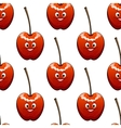 seamless background pattern ripe red cherries vector image