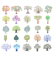 Set of Abstract Colorful Trees vector image vector image