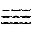 set of moustache icon and label fathers day flat vector image vector image