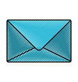 silhouette of colored pencils of sealed envelope vector image vector image