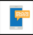 smartphone message icon vector image vector image