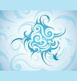 swirls backgorund vector image vector image