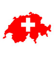swiss national day outline country and the vector image vector image