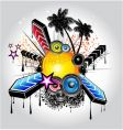 tropical disco vector image vector image
