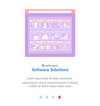 website with business software solutions site vector image
