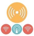 wi-fi icons set flat design vector image