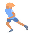 woman roller-skates icon isometric style vector image