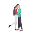 young man and woman dressed in modern casual vector image vector image