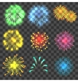 Fireworks concepts set realistic style vector image