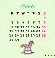2015 horses march vector image vector image