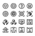3d printing icon set vector image vector image