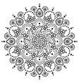 aboriginal bohemian dot painting mandala pa vector image vector image