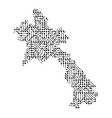 abstract schematic map of laos from the black vector image vector image