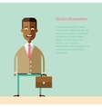African american businessman with a briefcase vector image vector image