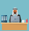 arab middle eastern businessman at his workplace vector image vector image