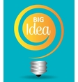 Big idea bulb design vector image