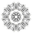 black floral ornament round vector image vector image