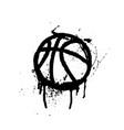 black grunge basketball vector image vector image