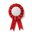 Blank realistic red fabric award ribbon vector image vector image