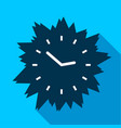 blue modern clock without numbers icon flat style vector image vector image