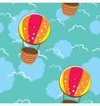 bright seamless pattern with colorful balloons vector image vector image