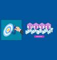 business management banner vector image
