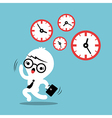 busy concept running out time business cartoon vector image