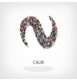 calm people sign 3d vector image vector image