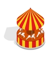 Carousel Isometric View vector image vector image