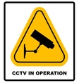 CCTV in Operation sign - format