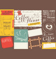coffee menu placemat vector image