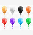 color balloons isolated party decor objects set vector image vector image