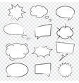 Comic book speech bubbles vector image