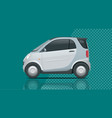 compact small car template isolated vector image vector image
