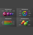 company marketing analytics presentation vector image