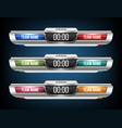 creative digital scoreboard vector image