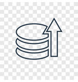 database concept linear icon isolated on vector image vector image